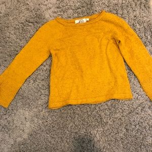 Burnt yellow sweater from Anthropologie